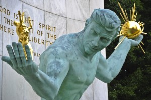 Spirit of Detroit statue photo credit Vito Palmissano