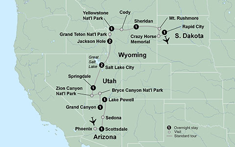 Map Of National Parks Western United States US National Parks Map - Western us map with national parks